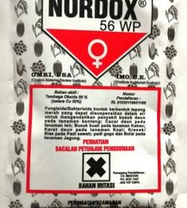 OBAT FUNGISIDA/BAKTERISIDA NORDOX 56WP 100GR