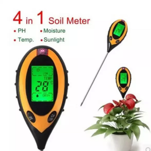 PH Meter Digital - Alat Ukur PH Tanah 4 In 1