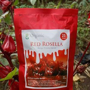 Bunga Red Rosella Kering Herbal